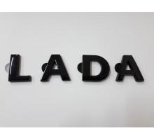 """Орнамент крышки багажника Лада Гранта / Калина-2 / Приора, Ларгус """"LADA"""" черный"""