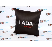 Подушка с надписью Lada Sport
