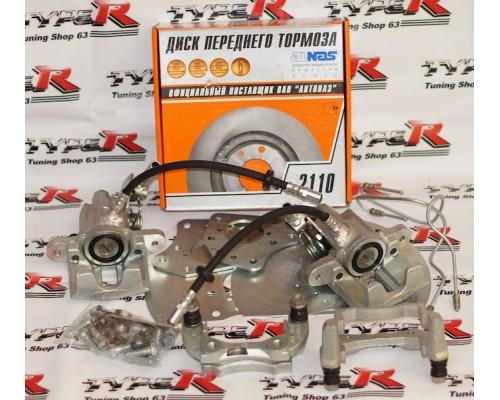 Задние дисковые тормоза 13 дюйм Дизайн-Сервис 2108-2110-Приора-Калина (вент)